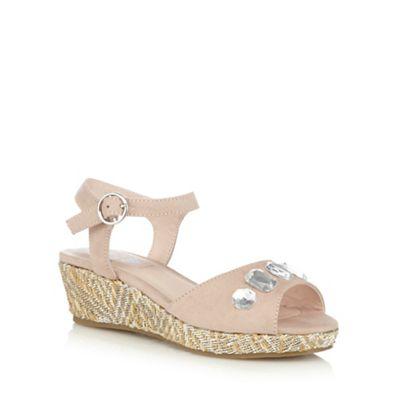 afa9bb496f87 bluezoo Girls  light pink jewel embellished wedge sandals