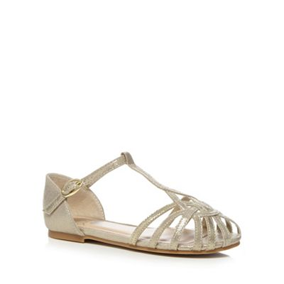 cdab56cd4876 bluezoo Girls  gold cage sandals