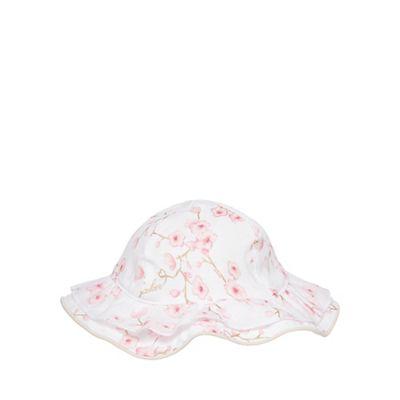 Baker by Ted Baker Baby girls' white blossom print hat