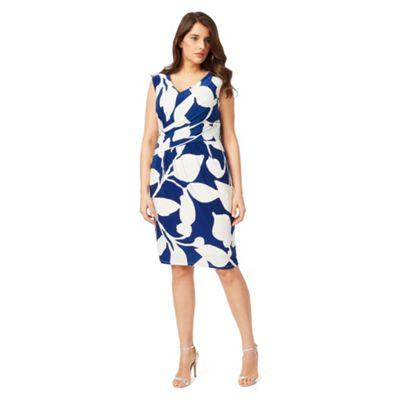 Studio 8 Sizes 12-26 Blue and Ivory geneva dress