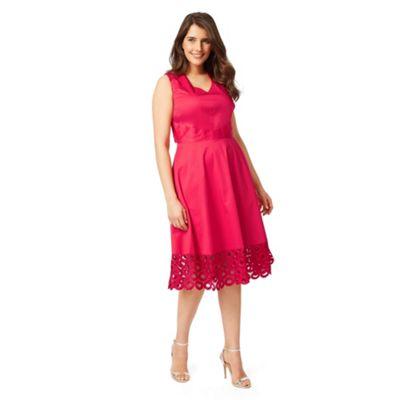 Studio 8 Sizes 12-26 Raspberry adelaide dress