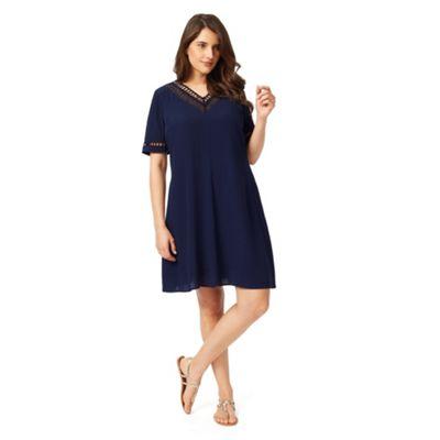 Studio 8 Sizes 12-26 Navy saffiya dress