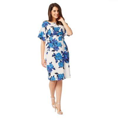 Studio 8 Sizes 12-26 Blue and White serena dress