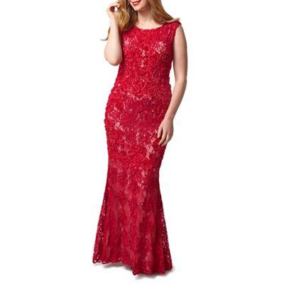 Studio 8 Sizes 16-24 Raspberry henrietta dress