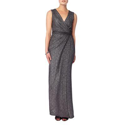 Phase Eight Silver 'Kylie' metallic wrap dress