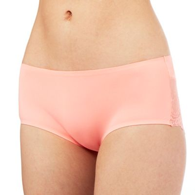 The Collection Peach floral lace invisible shorts