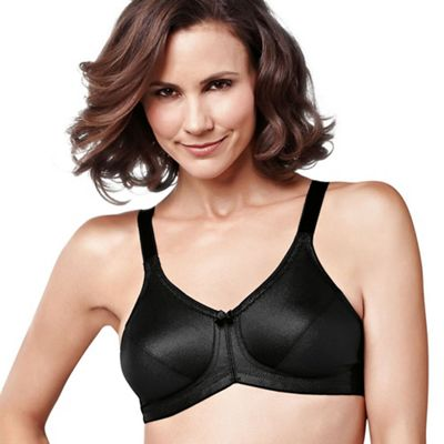 Amoena Black 'Rita' smooth control non wired post surgery bra