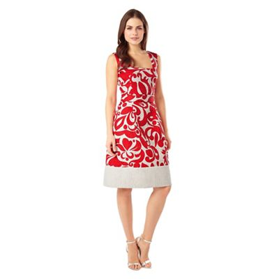 Phase Eight Multi-coloured jubilee print dress