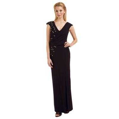 Ariella London Black 'Caitlyn' bead embellished evening dress