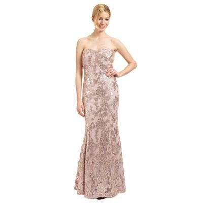 Ariella London Pale pink 'Amara' sequinned evening dress