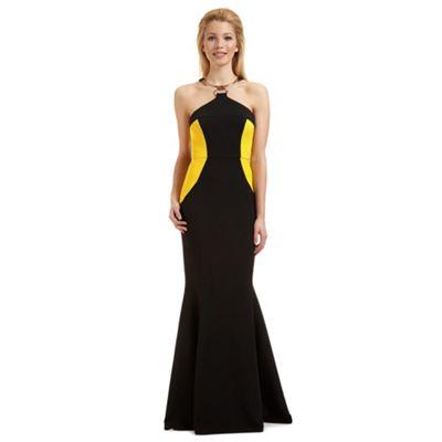 Ariella London Black 'Elisa' metal trim evening dress