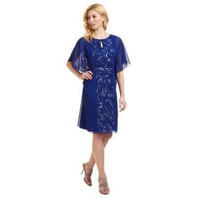 Ariella London Blue 'Enid' batwing beaded dress