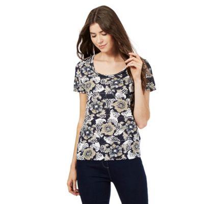 The Collection Black floral print t-shirt
