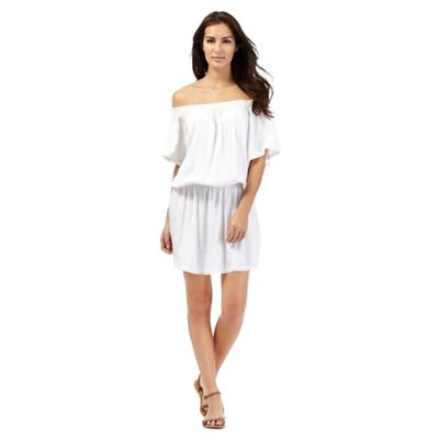 Beach Collection White Bardot dress