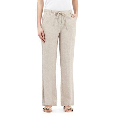 cd3018d07d74a John Rocha Beige linen trousers