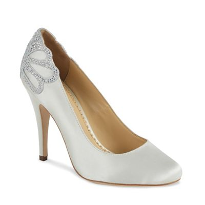 Benjamin Adams Round toe holford court shoe with heel embellishment