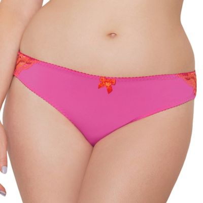 Curvy Kate Pink 'Smoothie Prowl' Brazilian brief