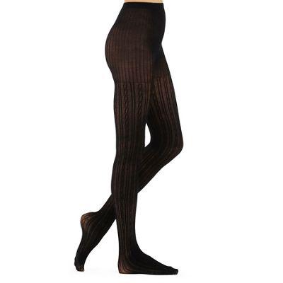 226bd7594 J by Jasper Conran Designer black cable knit 100D opaque tights
