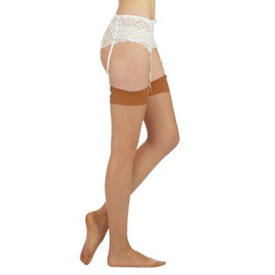 J by Jasper Conran Designer nude 10D smooth top stockings