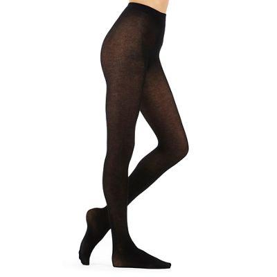 J by Jasper Conran Black 100D opaque cashmere blend tights