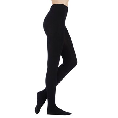 Debenhams Black opaque soft and smooth thermal tights