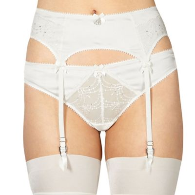B by Ted Baker Ivory bridal lace suspender belt