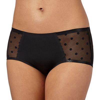 Debenhams Black 'invisible' spotted mesh back shorts