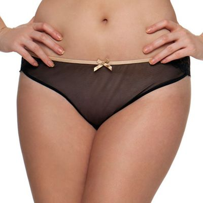 Curvy Kate Black 'Ellace' brazilian briefs