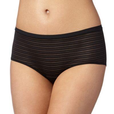 Debenhams Black burnout striped 'invisible' shorts