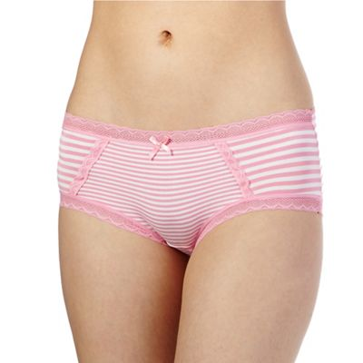 The Collection Light pink striped print shorts