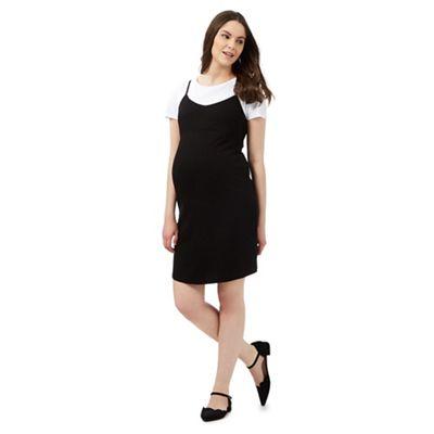 Red Herring Maternity Black dress and white mock t-shirt set