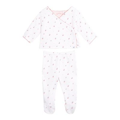 8d78ab5dc1 J by Jasper Conran Baby girls  dotted cherry print quilted top and bottoms  set