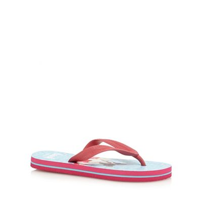 b634fce52 bluezoo Girls  pink dog print flip flops