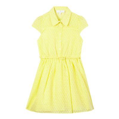 ad19388d2d J by Jasper Conran Girls  yellow floral shirt dress