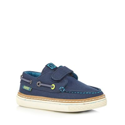 Baker by Ted Baker Boys' navy boat rip tape shoes