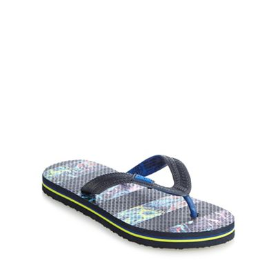 Baker by Ted Baker Boys' navy printed striped sandals