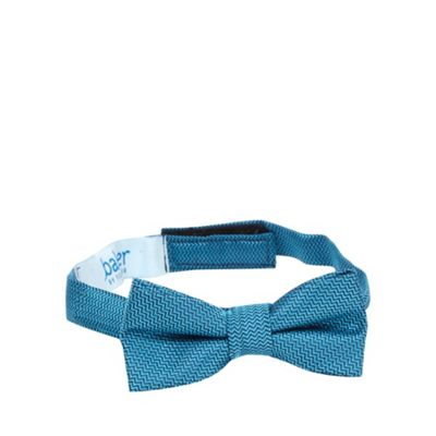 Baker by Ted Baker Boys' blue zig zag patterned bow tie