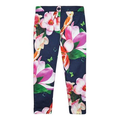 Baker by Ted Baker Girls' multi-coloured floral print trousers
