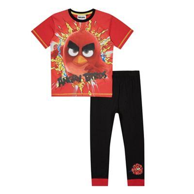 angry birds Boys' red 'Angry Birds' pyjama set