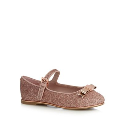 cbacf54cc80433 Baker by Ted Baker Girls  pink glittery pumps