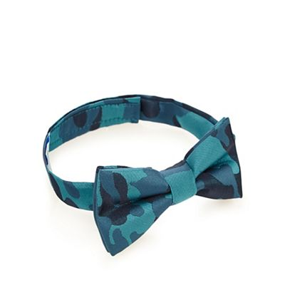 Baker by Ted Baker Boy's blue camouflage bow tie