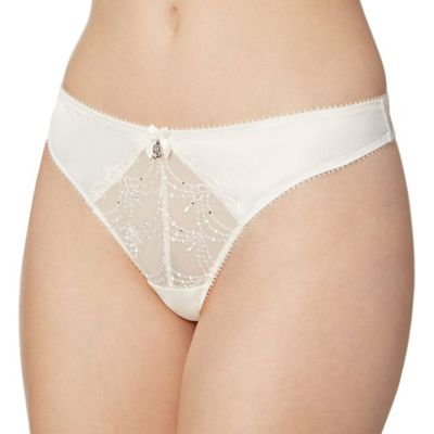 B by Ted Baker Ivory bridal lace thong