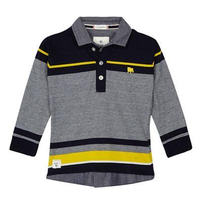 5db065b69f5 J by Jasper Conran Boys  navy striped polo shirt