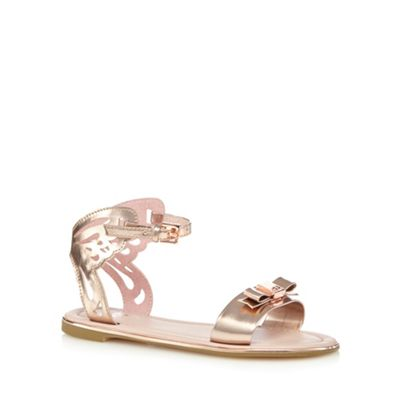 Baker by Ted Baker Girls' gold cut-out butterfly sandals