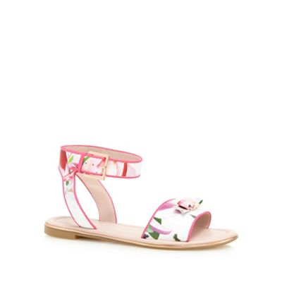 3d8399f1ee90 Baker by Ted Baker Girls  white floral print sandals