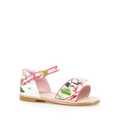 Baker by Ted Baker Girls' white floral print sandals