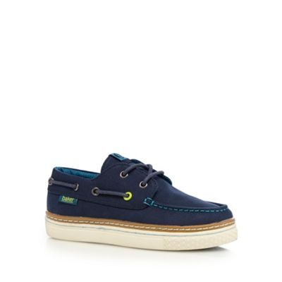 Baker by Ted Baker Boys' navy boat shoes