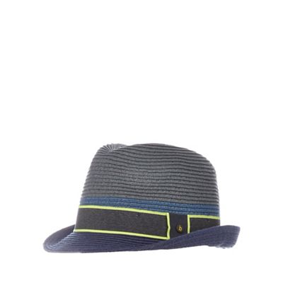 Baker by Ted Baker Boys' grey colour block trilby hat