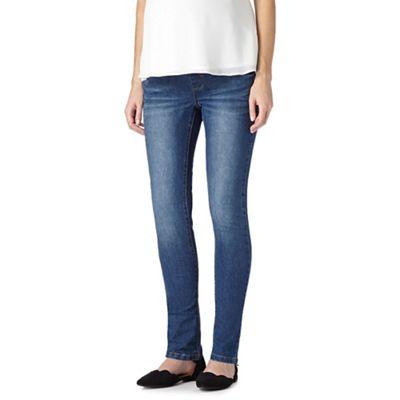 96ddf81b14619 Red Herring Maternity Vintage wash maternity skinny jeans