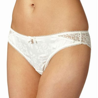 B by Ted Baker Ivory floral lace brazilian briefs